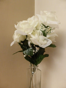 White Rose Bush Bunch Arrangement