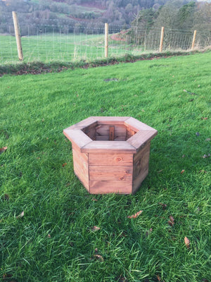 Hexagonal Wooden Garden Planter