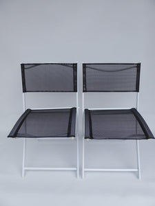 BLACK 3 Piece Garden Furniture Metal Patio Bistro Set For 2 Folding Chairs Table
