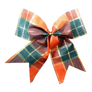 Pack of 8 Tartan Bows for Garlands, Wreaths, Present Decorations, Table Decorations or Cakes.