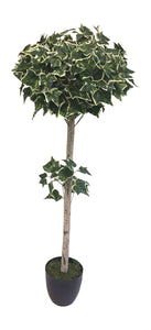 4' Variegated Ivy Ball Artificial Tree