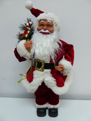 50cm Standing Santa Claus Christmas Decoration with Sack Ornament