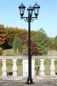 Traditional Garden Lamp Post - Triple