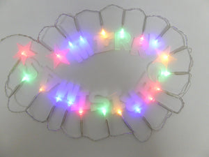20 Multi-Coloured LED Merry Christmas Light String Decoration Battery Operated