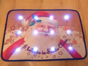Traditional Santa Musical Christmas Door Mat With LED Lights 60 x 40