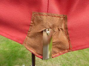 Large Hardwood 2.m Pulley Garden Parasol - Terracotta