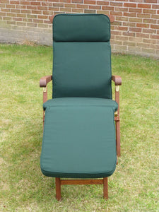 Garden Furniture Cushion - Green Cushion For A Garden Steamer Chair 184x48x6