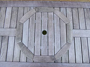 Large 60cm Antique Grey Lazy Susan Outdoor Wooden Dining Table Accessory