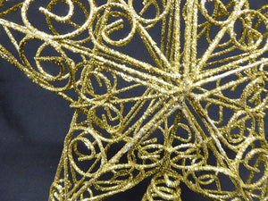 30cm Gold Swirls Star Christmas Tree Topper Decoration