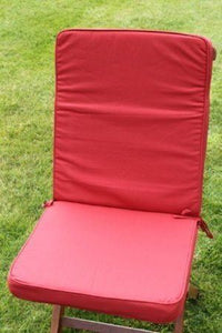 Terracotta Seat and Back Chair Cushion For Folding Chair 95x42x5