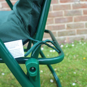 Green Garden Sun Lounger Chair With Cushion