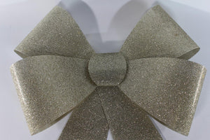 51 x 40cm Large CHAMPAGNE GOLD Glitter Bow