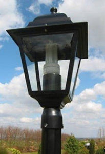 7ft Victorian Garden Lamp Post - Single Head - Aluminium So Won't Rust - Garden Pathway Lighting