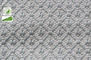 UK Gardens 120cm Diamond Pale Grey Blue Rug Recycled Textiles