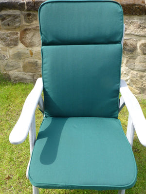 Garden Furniture Cushion - Green Recliner Chair Cushion For Large Chair 116x48x6
