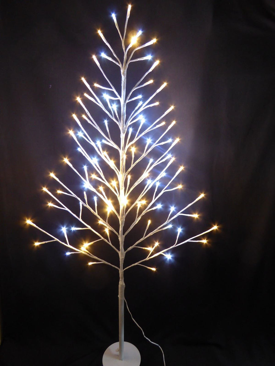 120cm 4ft Flat White Twig Tree With LED Lights