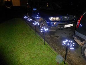 Light Up Bright White LED Multi Action Pathway Lights - Outdoor Garden Decoration