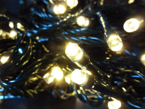 Christmas Tree Fairy Lights - 400 Warm White Indoor Outdoor Multi Action Battery Operated Timer LED