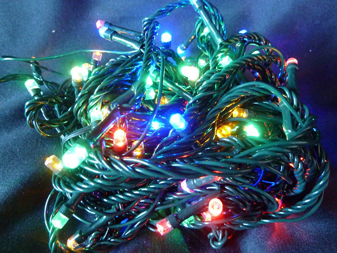 Christmas Battery 400 Multi Action LED Super Bright Time Lights Indoor//Outdoor.