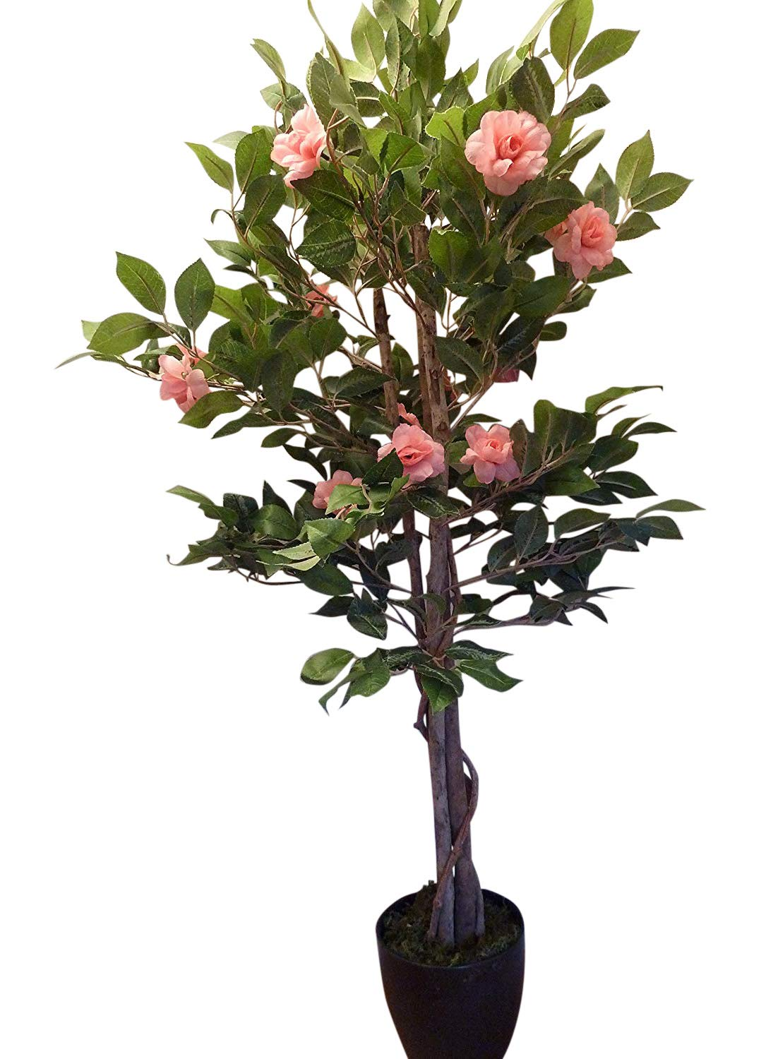 Artificial Trees - 4ft Bright Pink Rose Artificial Tree ...