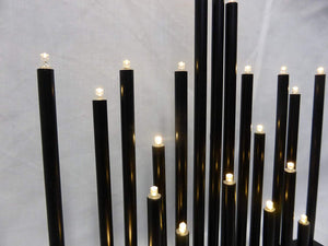 Black Candle Bridge - 25cm Christmas Candlebridge Lights Battery Operated With Timer - 20 Warm White LEDs