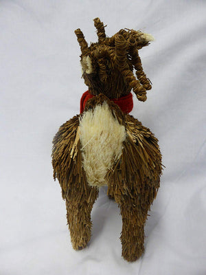 33cm Standing Natural Brown Reindeer Christmas Ornament Decoration