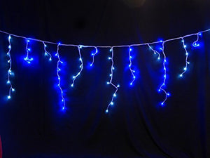 Light Up 360 Bright Blue and White LED Snowing Icicle Lights Outdoor Garden Christmas Decoration