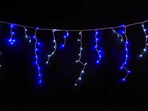Light Up 180 Bright Blue and White LED Snowing Icicle Lights Outdoor Garden Christmas Decoration