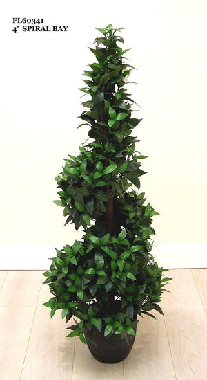 Artificial Plants - 1.2m 4ft Spiral Bay tree - Indoor Office Potted House Plant