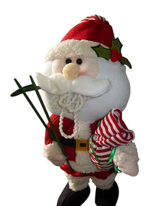 85cm Large Soft Fabric Standing Santa Claus - Flexible Festive Novelty Christmas Decoration