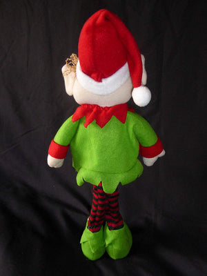 45cm Soft Toy Novelty Christmas Decoration Fabric Standing Elf Figure - Flexible Novelty Christmas Decoration