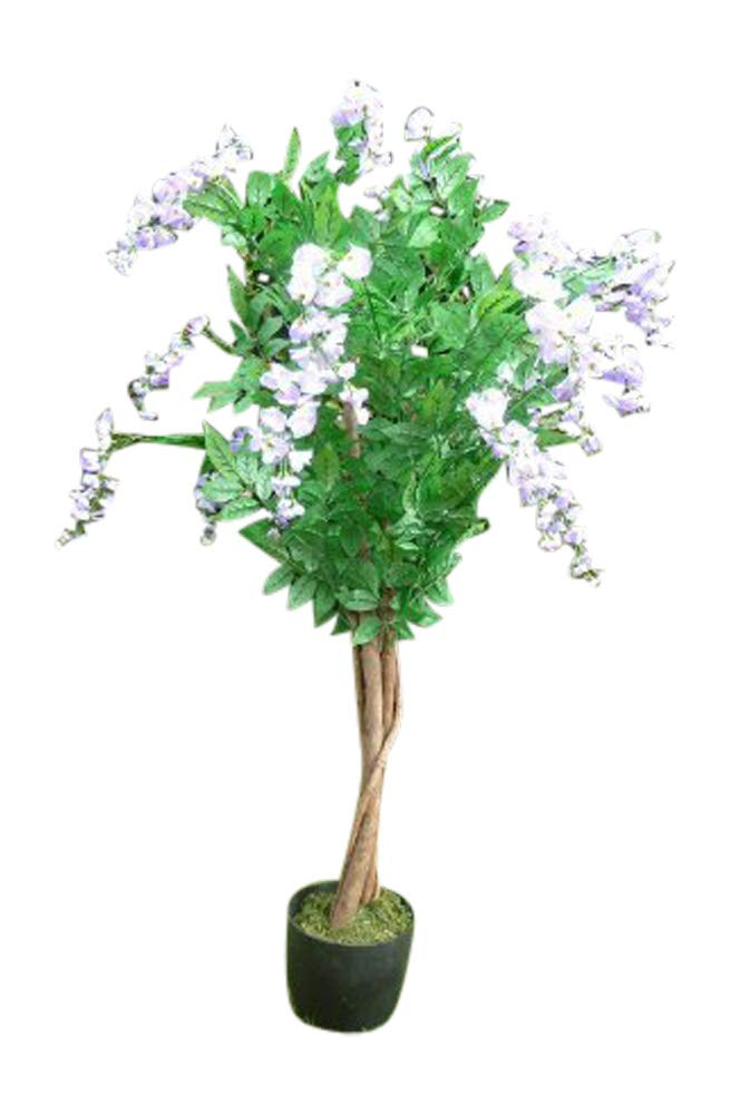 UK-Gardens 5ft Artificial Wisteria Tree With Flowers In A Pot - Artificial Potted Plants (Purple)