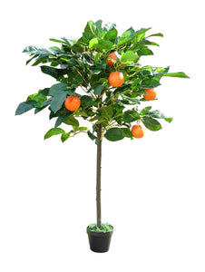 4ft Artificial Orange Fruit Tree Plant In A Pot - Artificial Potted Trees Plants