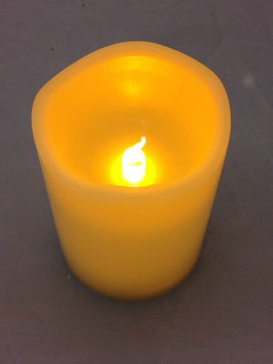 Flickering Candle - Battery Operated Outdoor Candles With Timer - Medium