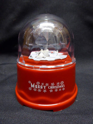 10cm Battery Operated Merry Christmas LED Disco Ball - Indoor Use