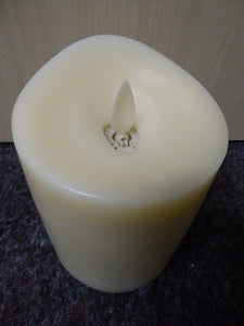 Living Flame Real Wax Candle Large 18cm Vanilla Scented Timer Candles