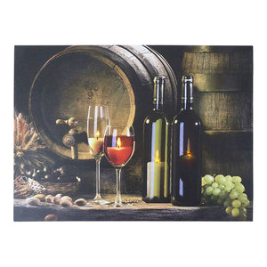 Christmas Decorations - 40 x 30 Wine Barrel Canvas Print