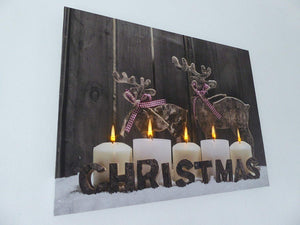 Christmas Decorations - 40 x 30 Modern Reindeer Canvas Print