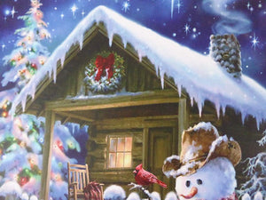 Christmas Decorations - 40 x 30 Snowman Canvas Print