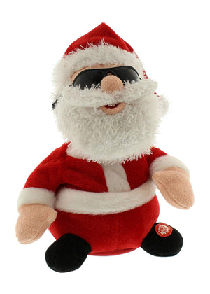 25cm Animated Santa Claus - Moving Dancing Father Christmas Animation Christmas Decoration