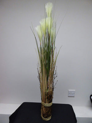 90cm 3ft Large Artificial Cream Potted Pampas Grass