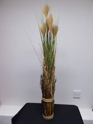 90cm 3ft Large Artificial Natural Potted Pampas Grass