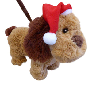 30cm Animated Walking Dog With Lead - Moving Dancing Animation Christmas Decoration
