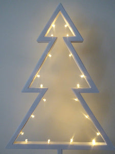Light Up 39cm Battery Operated LED Christmas Tree Pre Lit 20 Warm White LED Lights Battery Operated Christmas Decoration