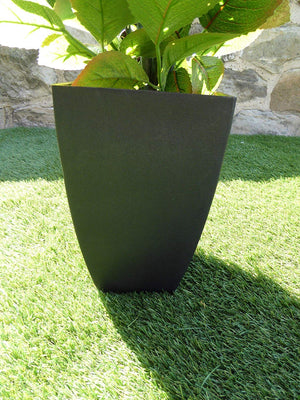 Artificial Potted Plant - 80cm Large Red Rose Tree Bush In A Black Plastic Pot - House Office Indoor Plants