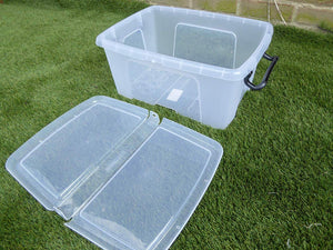 Heavy Duty Stacking Plastic Storage Boxes with Lid Locking Handles 3 sizes (12 Litre)