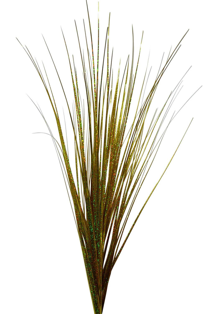 Artificial Flowers - 90CM Gold And Silver / Gold Spray Onion Grass - House Office Indoor Decoration (Gold)