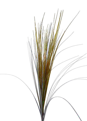 Artificial Flowers - 90CM Gold And Silver / Gold Spray Onion Grass - House Office Indoor Decoration (Gold/Silver)