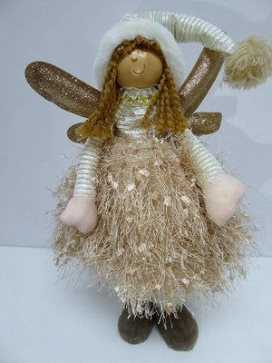 GOLD 40cm Standing Angel Fairy