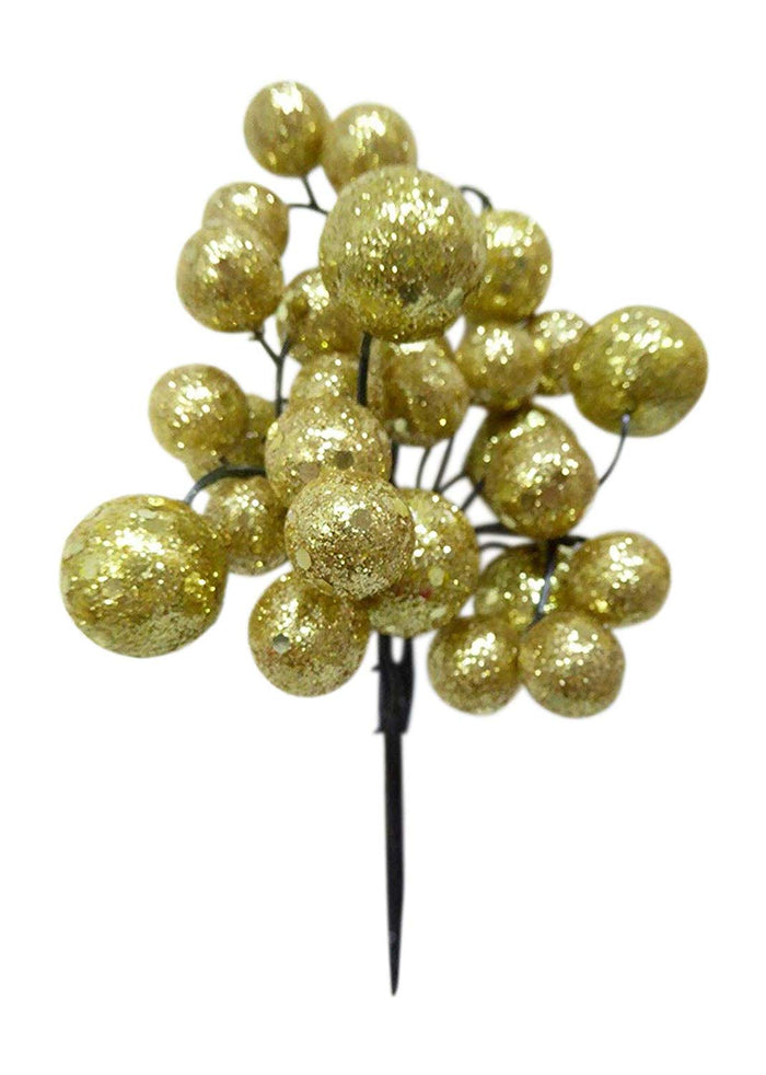 GOLD Small Glitter Ball Pick